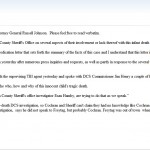 DA Statement to WECO